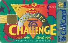 Callcard Challenge Collectors Fair 1997 Callcard (front)
