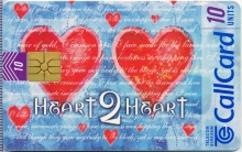 Valentines Day (Heart 2 Heart) 1998 Callcard (front)