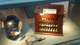 Old P&T telephone exchange on display at North Mayo Heritage Centre