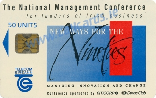 IMI Conference 1990 50u Callcard (front)