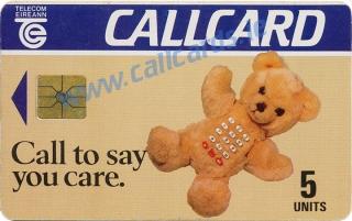 Teddy Bear 5u Callcard (front)
