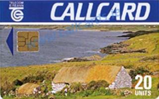 Cottage Black back 20u Callcard (front)