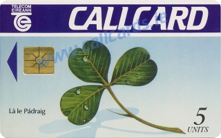 St. Patrick's Day 1991 Callcard (front)