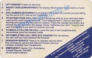 Limerick Treaty Callcard (back)