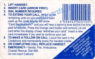 Easter 1993 Callcard (back)
