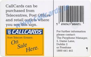 Royal Hospital Kilmainham Stamp & Coin Collectors Fair Callcard (back)