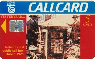 Ireland's First Public Call Box Callcard (front)