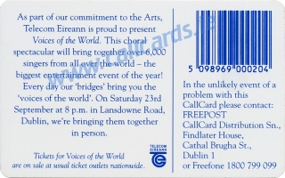 Voices of the World Callcard (back)