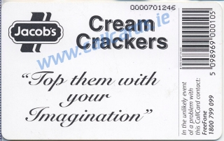 Jacobs Cream Crackers Callcard (back)