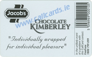 Jacobs Chocolate Kimberley Callcard (back)