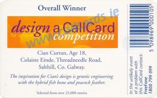 Design A Callcard 1998 Callcard (back)