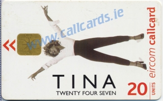 Tina Turner Twenty Four Seven Callcard (front)