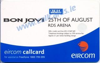 Bon Jovi Callcard (back)