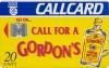 Gordon's Gin Callcard (front)